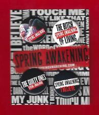 """Lea Michele """"SPRING AWAKENING"""" Jonathan Groff / Duncan Sheik 2006 Pinback Set"""