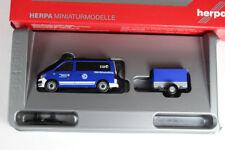 """Herpa 093668 VW T6 Bus mit Pritschenanhänger """"THW Korbach / Höhenrettung"""" Neuw."""