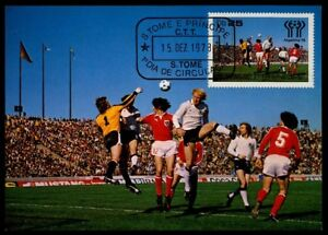 S.TOME MK 1978 ARGENTINA SOCCER GERMANY AUSTRIA FOOTBALL FUTBOL MAXI CARD m803