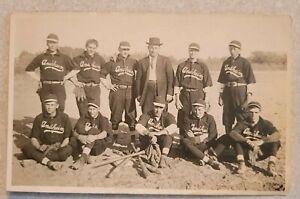 RPPC Anaheim California CA Baseball Team Men Uniform Bat Gloves Field Postcard