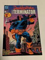 Deathstroke The Terminator #1 August 1991 DC Comics Wolfman Erwin KEY ISSUE