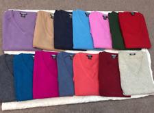 100% Pure Cashmere Wool V-neck Poncho Wrap Nepal Handmade Fine Knit Winter Warm