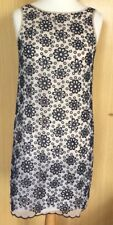Great Plains Boutique Dress 12 Broderie Anglais Occasion Navy Summer Casual Day