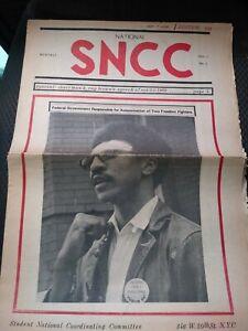 SNCC Newspaper VOL.1 #1 / H. RAP BROWN THE BLACK PANTHER PARTY
