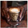 Skull Double Wall Glass Coffee Mug Cup Skeleton Halloween Party Drinks Latte Bar