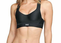 Under Armour Black Warp Knit High Impact Sports Bra Women's Size 38C 12921