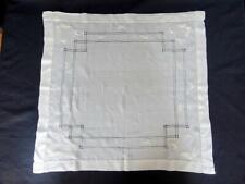 More details for antique silk handkerchief edwardian victorian embroidered butterflies c190