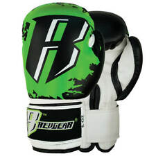 NEW REVGEAR KIDS BOXING GLOVES YOUTH BOXING BLACK/GREEN MUAY THAI