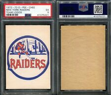 1972-73 O-PEE-CHEE OPC TEAM LOGOS NEW YORK RAIDERS SP PSA 5 (5221)