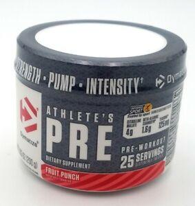 Dymatize Athlete's Pre Workout Supplement Fruit Punch 7.5 oz Exp-08/21 25 Serv