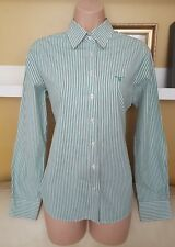 Gorgeous Designer GANT Green Striped Shirt Top Blouse Size 12 - 14 * L@@K * Vgc