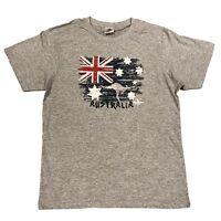 Adult Mens Unisex Australian Day Australian Souvenir T Shirt Aussie Tee Grey