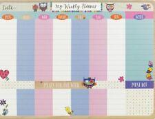 Rachel Ellen Gufi e uccellini SETTIMANALE Desktop Planner Pad