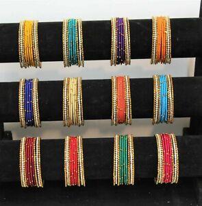 Indian Bangles Silk Thread Wrapped Bollywood Designer Party Wear Women Fashion
