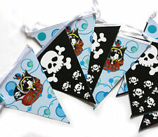 Boy Pirate Birthday Party Banner flag Bunting 14 pennents New