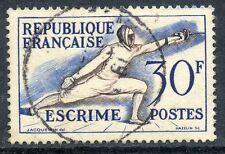 STAMP / TIMBRE FRANCE OBLITERE N° 962 JEUX OLYMPIQUES D'HELSINKI ESCRIME