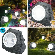 LED 10er Set  Gartenleuchten Wegleuchten Garten Solarlampen Gartendekoration