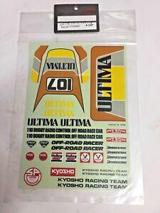 Kyosho UM-19 Ultima Decal Sticker Set Genuine OEM Sealed BNIB Vintage RARE NOS