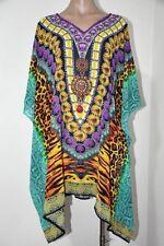 Sheer Chiffon Poly Embellished Kaftan  Digital Printed Size 14-16-18-20-22