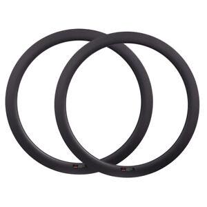 50mm 700C Cyclocross Road Bike Carbon Wheels Disc Brake Bicycle Rim V/U Shape