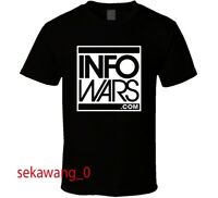 New Info Wars Dot Com Black T-Shirt Clothing