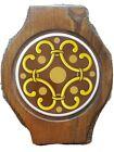 "Woodcrest by Styson Vintage Wood and Tile Japan Trivet - 10"" Long"