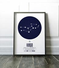 Zodiac Star Signs Print / Picture Virgo / Modern / Minimalist Wall Art