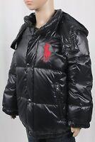 Children POLO Ralph Lauren Black Puffer Big Pony Down Coat Jacket Hood NWT $165