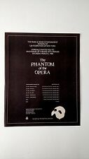 The Phantom Of The Opera ,New York (1988) Rare Original Print Promo Poster Ad
