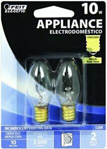 10-Watt C7 Appliance Incandescent Light Bulb 2-Pack-Feit Electric-BP10C71/2/RP