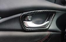 Carbon Fiber Interior Door Handle Cover For Honda Civic 2016 2017 Trims
