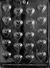 BITE SIZE HEART PIECES mold Chocolate Candy soap making hearts valentine love
