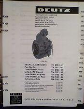 Deutz Motoren F1L 812 Ersatzteil-Katalog