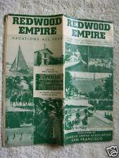 1950s Redwood Empire California Info Map Location Guide