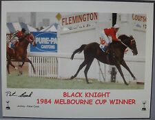 BLACK KNIGHT signed 1984 Melbourne Cup Winner