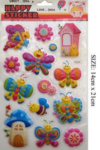 Kids Xmas Gift under 1 Pound 3D Children DIY Decor Craft Party Sticker Butterfly