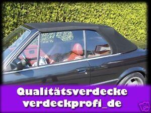 BMW E30 Cabrio Verdeckbezug Stoff Verdeck E-30 Qualität schwarz (farbig teurer)A