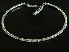 Wedding Bridal Jewellery Diamond Shine 1 Row Crystal Choker Necklace N57