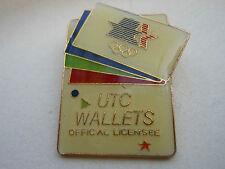 Olympic PIN UTC WALLETS Vtg LA '84 Sponsor w/ Logos - Limited Edition!