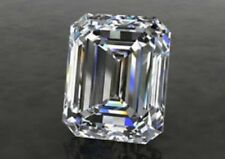1.08 ct VVS1 GENUINE WHITE H-I COLOR EMERALD LOOSE REAL MOISSANITE 4 RING