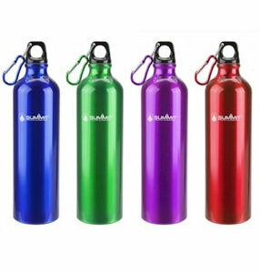 SUMMIT 750ml Water Bottle with Lid - ALUMINIUM ,Travel,Camping,School, Sport