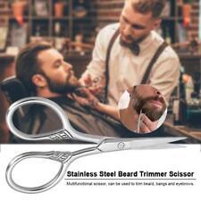 Stainless Steel Hair Beard Eyebrow Scissors Shears Facial Trimmer Cutting S9O4