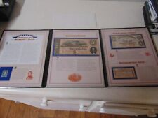 1863 1864 1868 Confederate States Of America Currency And Stamp In Folder 5 Doll