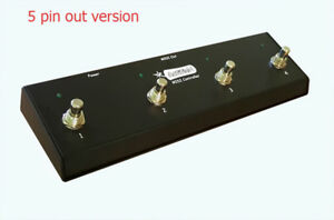 NEW - ActitioN 4 Button MIDI Footswitch, Foot Controller