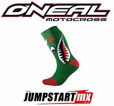 Navidad Oneal jóvenes Pro Mx Motocross Quad Niños Calcetines Bomber verde