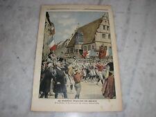 *** Petit Journal n° 972 - 04/07/1909 - Drapeau Alsace