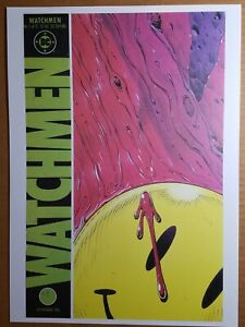 Watchmen 1 Smiley DC Comics Poster by Dave Gibbons