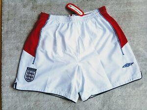 England away football short *BNWT* World cup 2002 Umbro white Size M adult retro