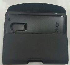 FOR HTC ONE MAX LEATHER  BELT CLIP HOLSTER FIT OTTERBOX COMMUTER CASE ON PHONE