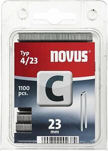Novus Schmalrückenklammern 23 mm, 1100 Klammern vom Typ C4/23